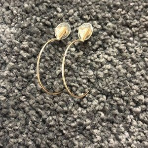 Nordstrom hoop earring with triangle stud